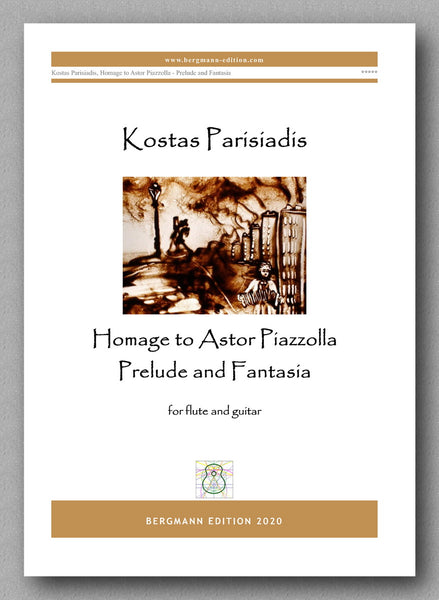 Kostas Parisiadis, Homage to Astor Piazzolla - Prelude and Fantasia - preview of the cover
