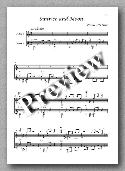 May Flower by Plamen Petrov - preview of the the music score 9