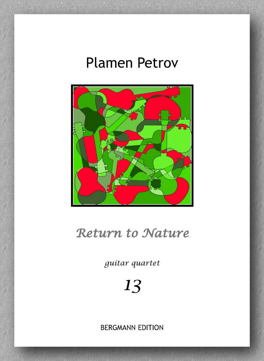 Return to Nature, guitar quartet no. 13 by Plamen Petrov - preview of the cover