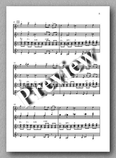 Return to Nature, guitar quartet no. 13 by Plamen Petrov - preview of the music score 2