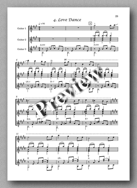 Thracian Suite, guitar trio by Plamen Petrov - preview of the music score 4