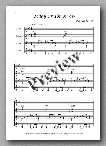 Petrov, Today Or Tomorrow - music score 1