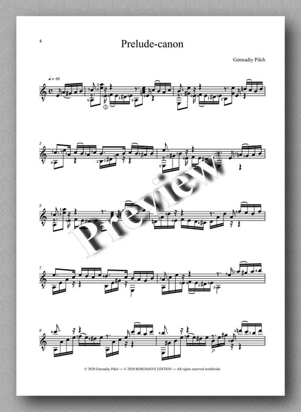 Gennadiy Pilch, Prelude-canon - preview of the music score