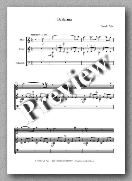 Gerardo Pujol, Bailarina - preview of the music score 1