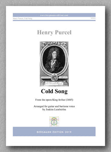 Henry Purcell, Cold Song - preview of the cover