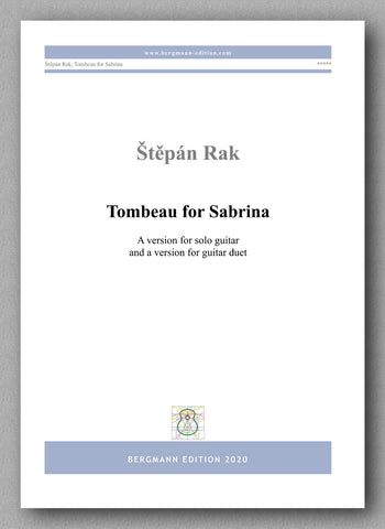 Štěpán Rak, Tombeau for Sabrina - preview of the cover