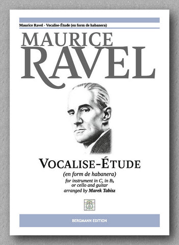 Maurice Ravel, Vocalise-Étude in form de Habanera - preview of the cover