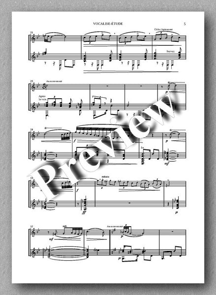 Maurice Ravel, Vocalise-Étude in form de Habanera - preview of the music score 2