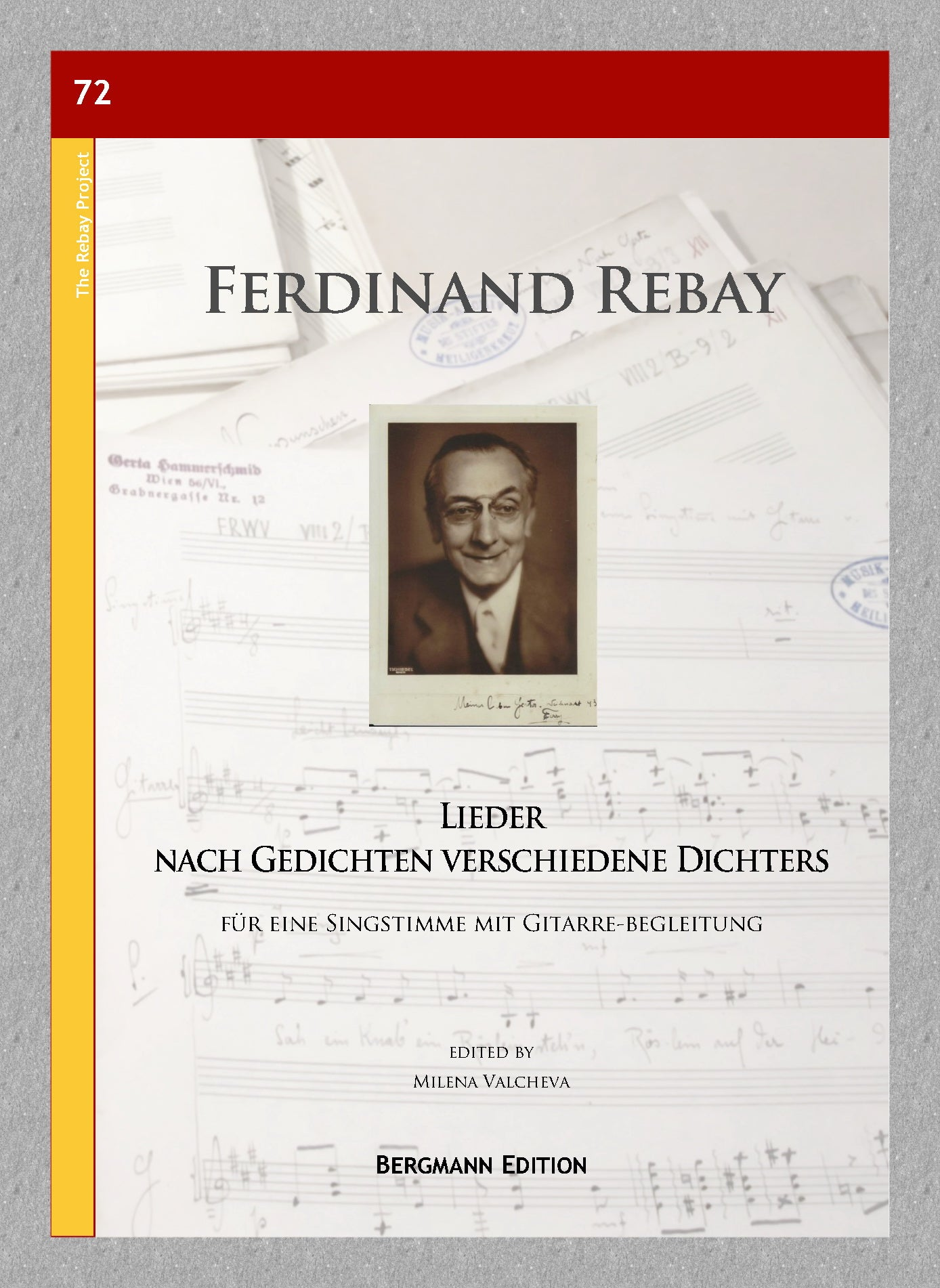 Rebay [072], Lieder nach Gedichten verschiedene Dichters - preview of the cover