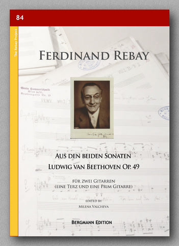 Rebay [084], Aus den beiden Sonaten Ludwig van Beethoven Op. 49 - preview of the cover
