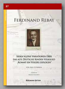 Rebay [087], Sieben kleine Variationen - preview of the cover