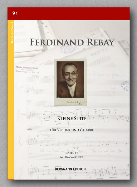 A suite for violin and guitar by Ferdinand Rebay. Preview of the cover