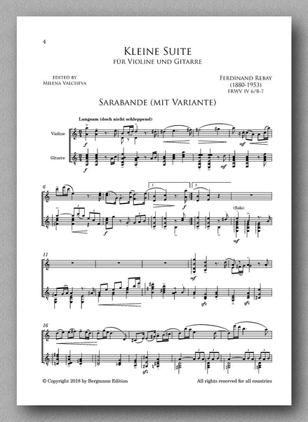 A suite for violin and guitar by Ferdinand Rebay. Preview of the score 3
