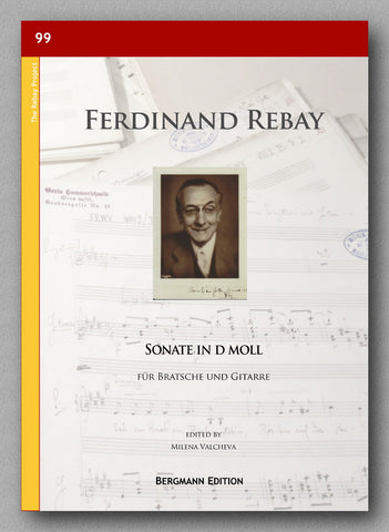 Rebay [099], Sonate in d moll, preview of the cover