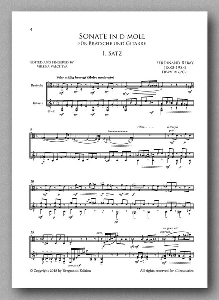 Rebay [099], Sonate in d moll, preview of the full score