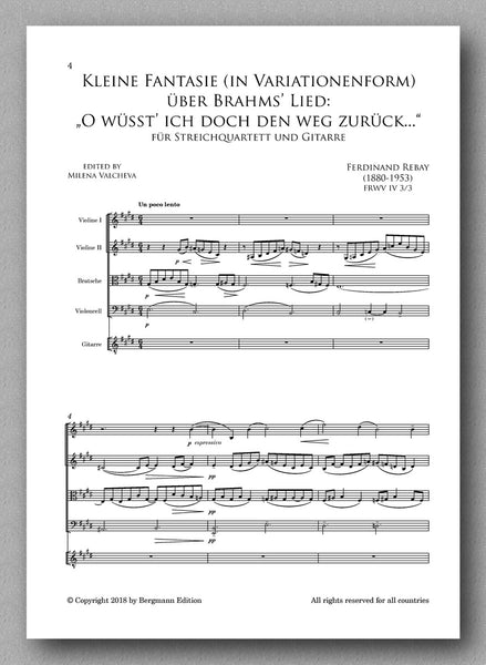 Rebay [106], Kleine Fantasie - Preview of the score 1