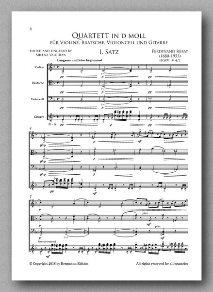 Rebay [119], Quartet in d-minor - preview of the first movement
