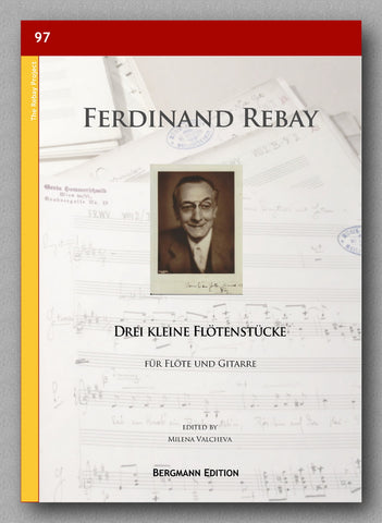 Rebay [097], Drei kleine Flötenstücke, preview of the cover