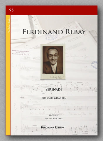 Serenade for guitar duet composed by Ferdinand Rebay - preview of the cover