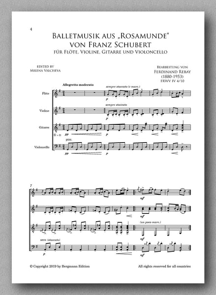 "Rebay [128], Balletmusik aus ""Rosamunde"" von Franz Schubert - preview of the score 1"