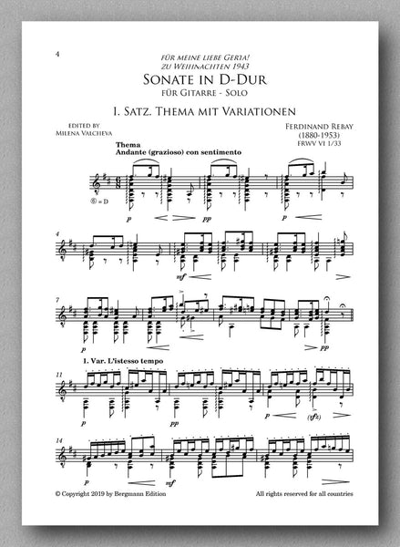 Rebay [138], Sonate in D-Dur - preview of the score 1