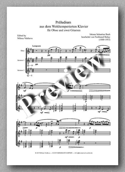 Rebay [146], Präludium aus dem Wohltemperierten Klavier - preview of the full score 1