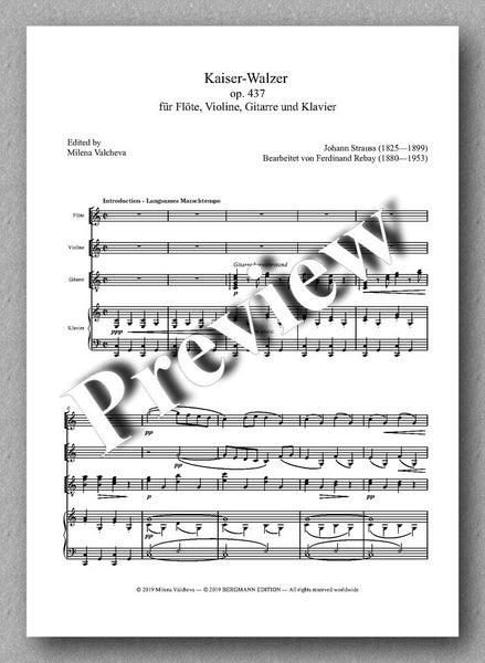Rebay [150], Brahms, Kaiser-Walzer - preview of the music score