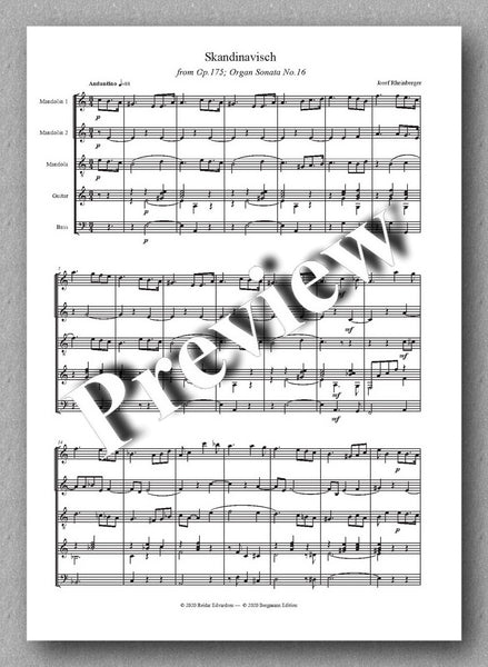 Skandinavisch by Josef Rheinberger - preview of the music score