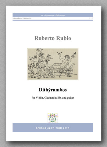 DITHÝRAMBOS  for violin, clarinet in Bb, and guitar by Roberto Rubio - preview of the cover