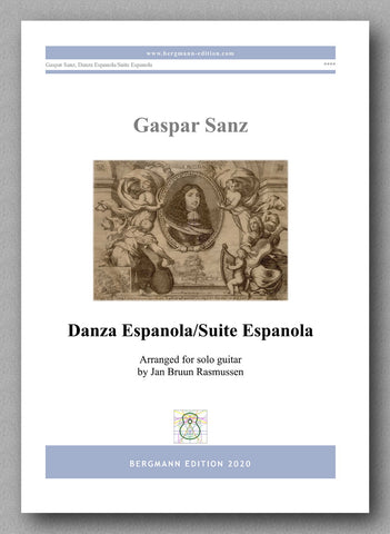 Danza Espanola/Suite Espanola by Gaspar Sanz - preview of the cover