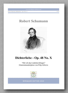 "Robert Schumann, Dichterliebe - Op. 48 No. X, ""Hör ich das Liedchen klingen"" - preview of the cover"