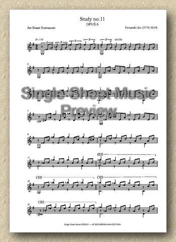Sor-Rasmussen, Opus 6, No. 11 (Single Sheet Music)