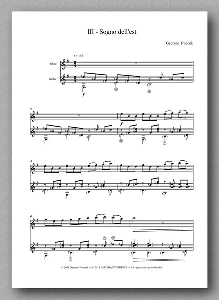 Trittico for oboe and guitar by Gaetano Troccoli - preview of the score 3