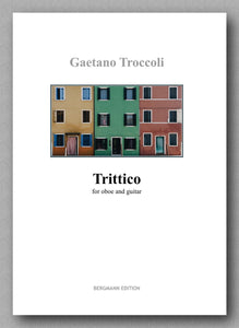 Trittico for oboe and guitar by Gaetano Troccoli - preview of the cover