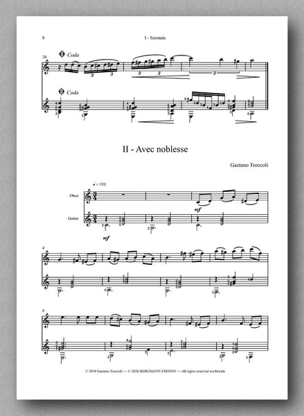 Trittico for oboe and guitar by Gaetano Troccoli - preview of the score 2