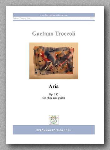 Aria for oboe and guitar by Gaetano Troccoli - preview of the cover
