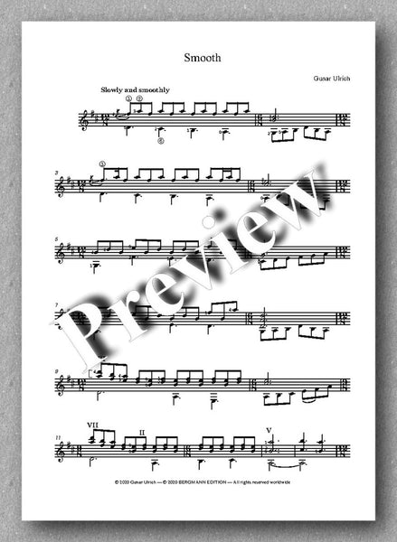 Gunar Ulrich, A Handful of Small Guitar Pieces - preview of the music score 3