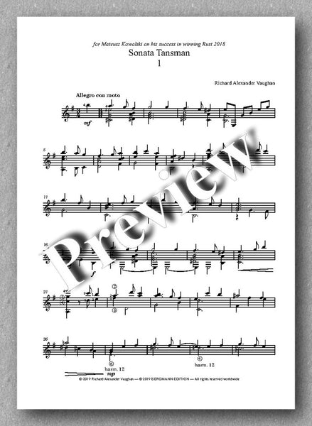 Richard Alexander Vaughan, Sonata Tansman - previev of the music score 1