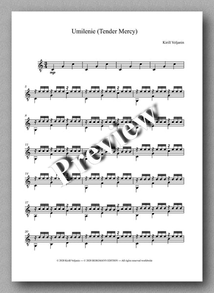 Kirill Voljanin, Winter Joy - music score 4