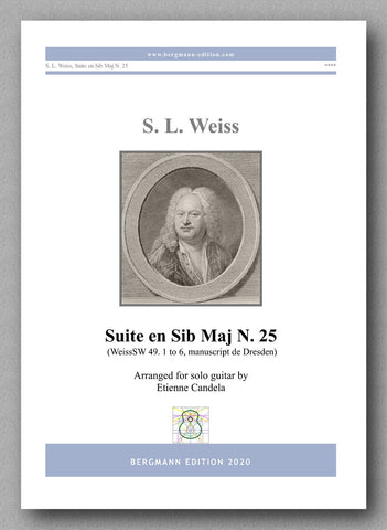 Sylvius Leopold Weiss (1687-1750), Suite en Sib Maj N. 25 - preview of the cover