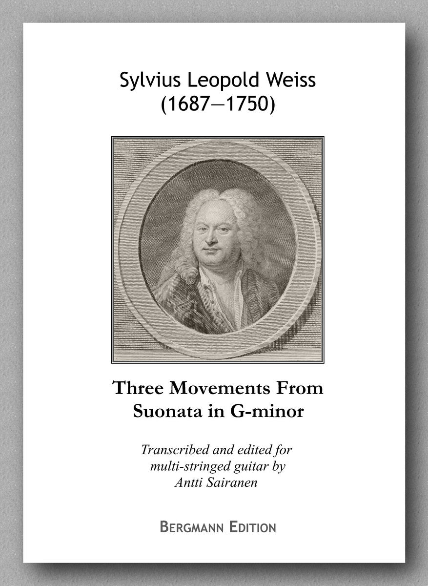 Weiss-Sairanen, Three Movements From Suonata in G-minor - preview of the cover