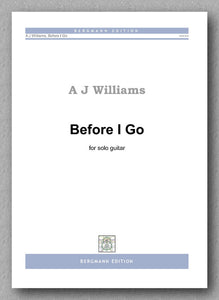 Andrew Williams, Before I Go - preview of the cover