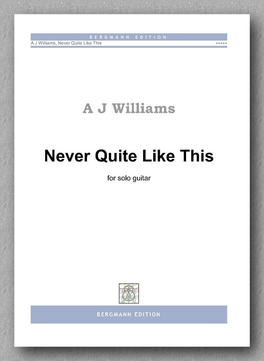 Andrew Williams, Never Quite Like This - preview of the cover