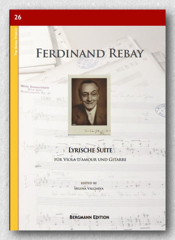 Rebay [026], Lyrische Suite für Viola d'amour und Gitarre - preview of the cover