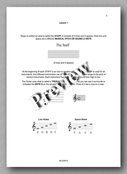 Preparatory Guide for Classical Guitar & Music Theory - preview of the text 1