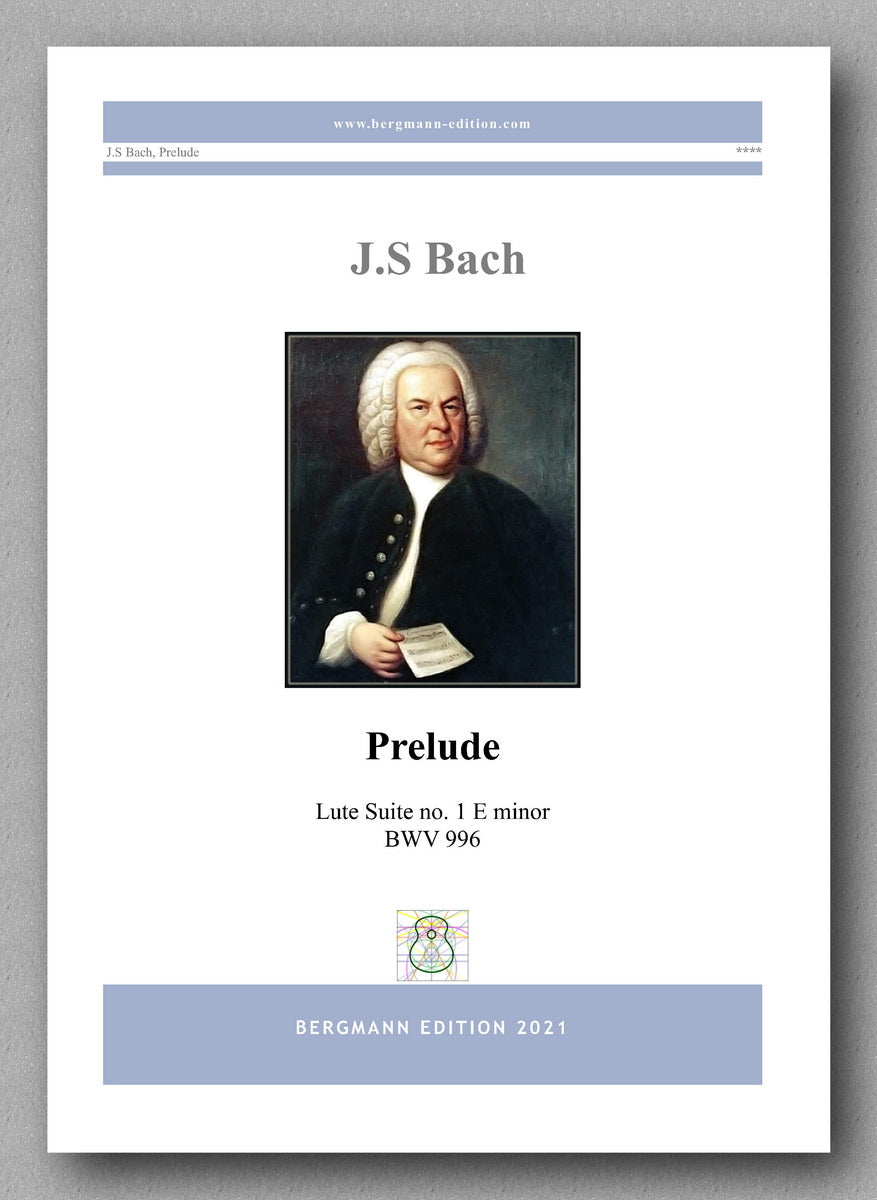 J.S. Bach, Prelude, Lute Suite no. 1, BWV 996 - cover