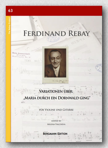 "Rebay [063], Variationen über: ""Maria durch ein Dornwald ging"" - preview of the cover"