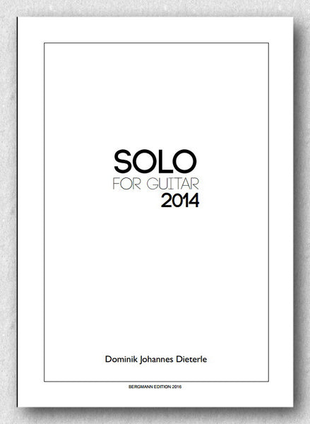 Dominik Johannes Dieterle - Solo for Guitar, cover