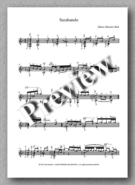 J.S.Bach, Partita No. 2,  BVW 1004 - preview of the music score 3