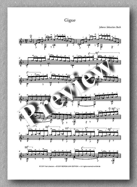 J.S.Bach, Partita No. 2,  BVW 1004 - preview of the music score 4